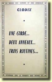 Une Corde, Deux Anneaux, Trois Routines de CLODIX