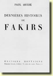 DERNIERES HISTOIRES DE FAKIRS