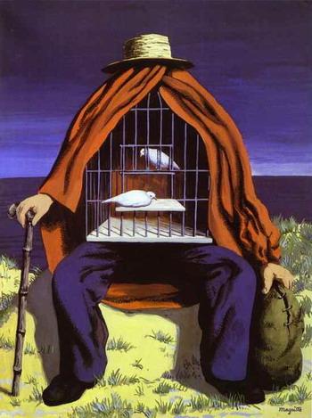 Cage - René MAGRITTE : le Peintre des Illusionnistes ?