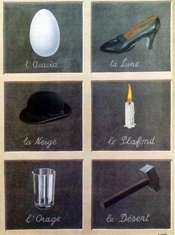 mentalisme6cases - René MAGRITTE : le Peintre des Illusionnistes ?