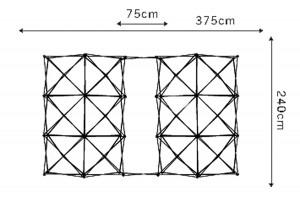 Armature de la structure spider flex.