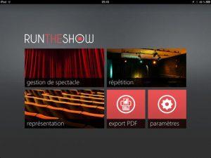Run The Show par TNF Concept. Photo de l'application disponible dans l'App Store.