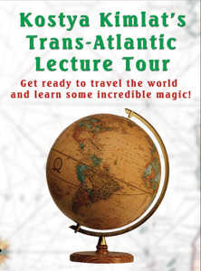 Transatlantic Lecture Tour de Kostya KIMLAT