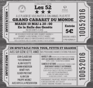 """Cabaret Magique du Cercle Liégeois Les """"52"""" @ Salle des Genêts"""