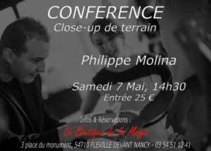 Conférence de Philippe MOLINA (54) @ LA BOUTIQUE DE LA MAGIE
