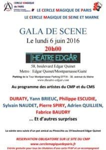 Gala de Scène du CMP & du CMS (75) @ Théâtre EDGAR