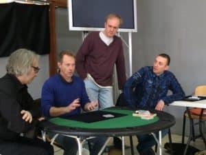 De gauche à droite : Thierry Périchon, Isidore Buc, Cristophe Cunniet et Aurélien d'Ignazio