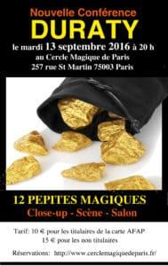 Conférence de Duraty (75) @ Cercle Magique de Paris