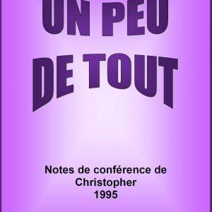 Note de Conférences de Christopher 1995