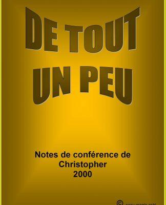 Note de Conférences de Christopher 2000