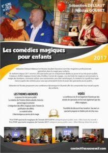 Conférence Les Comédies Magiques pour Enfants de S. Delsaut et N. Goubet