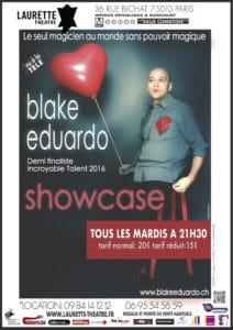Showcase de Blake EDUARDO (75) @ Théâtre Laurette   Paris   Île-de-France   France