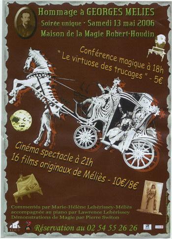 Affiche - Georges MELIES, Pierre SWITON et le CIPI : tiercé gagnant à Blois