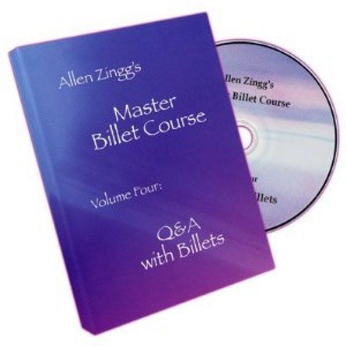 Master Billet Course - 4 volumes d'Allen ZINGG