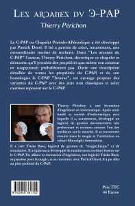Les Arcanes du C-PAP de Thierry PERICHON - 4e couverture