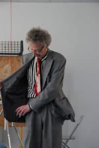 Conférence d'Alain de Moyencourt : la veste du conférencier