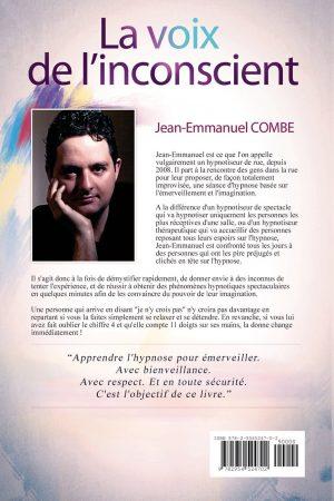 La Voie de l'Inconscient (Street Hypnose) de Jean-Emmanuel COMBE dos