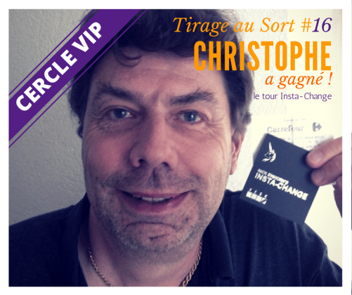 Christophe remporte le tour Insta-Change