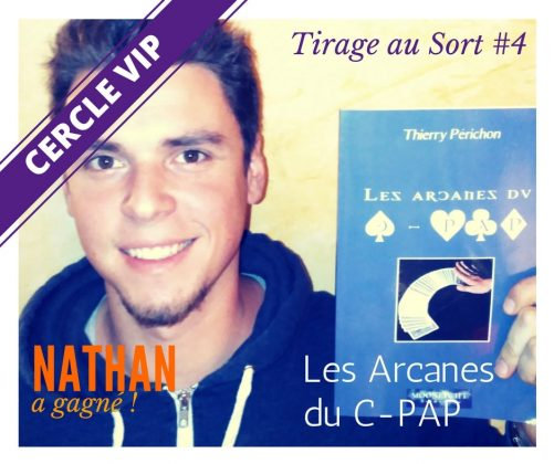 Nathan remporte le livre Les Arcanes du C PAP