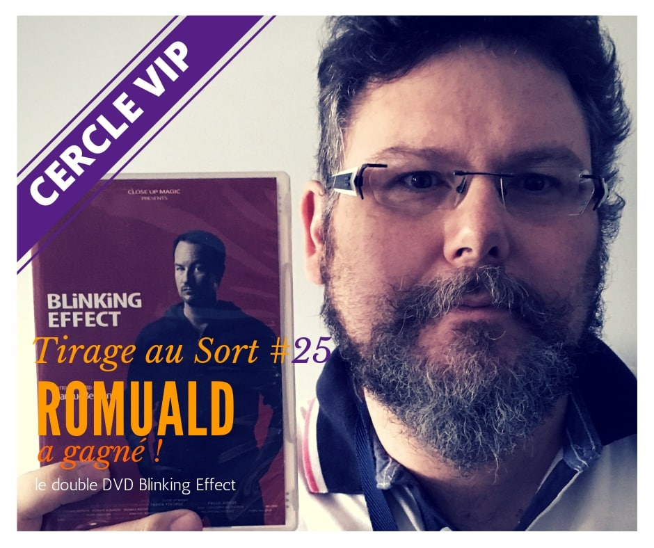 Romuald remporte le 25e tirage au sort réservé aux VIP