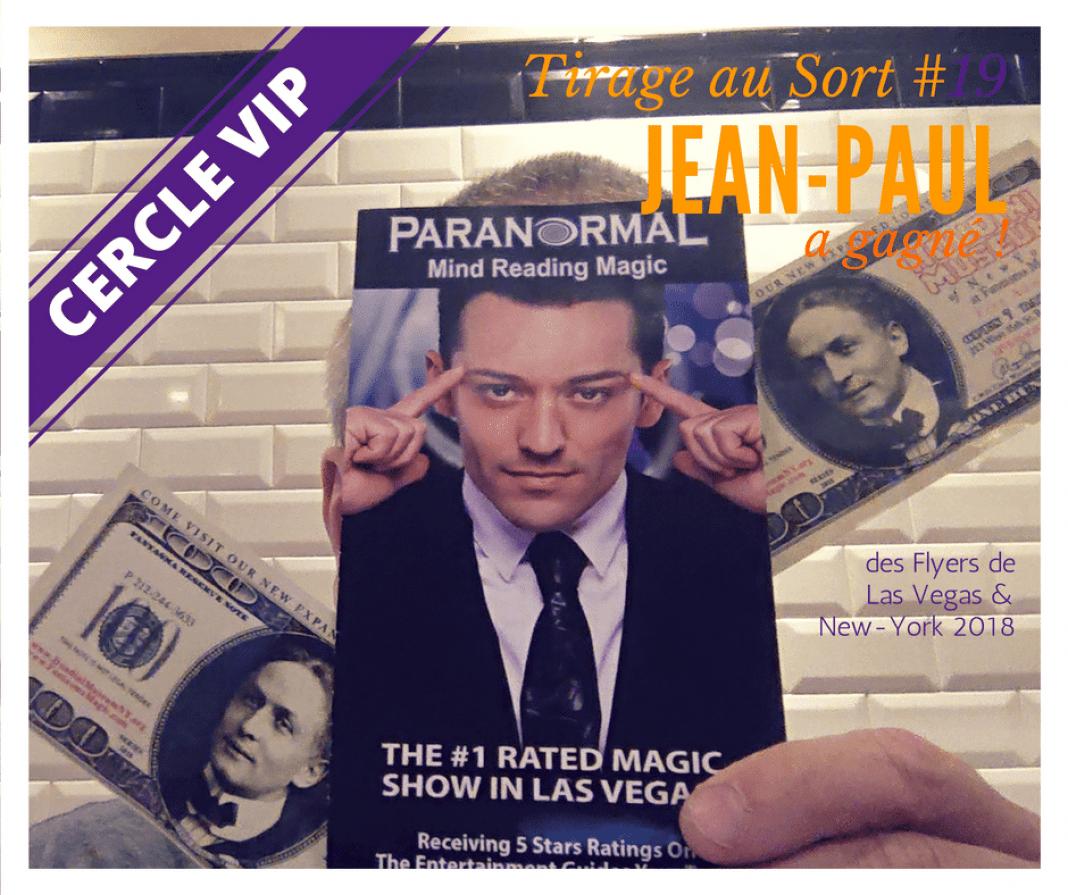 Jean-Paul remporte des flyers de Las Vegas