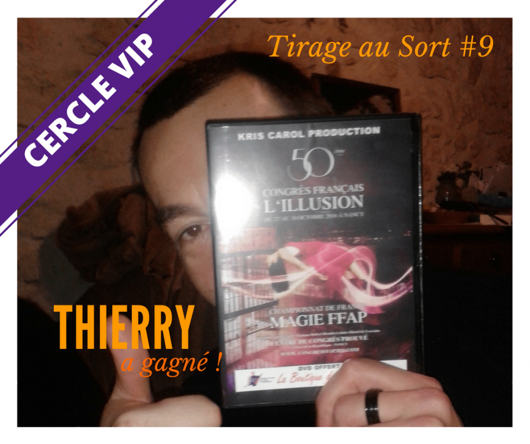 Thierry remporte un DVD de compilation de tours