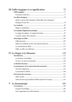 L'Arc-en-Ciel Magique de Juan TAMARIZ - table des matières 2