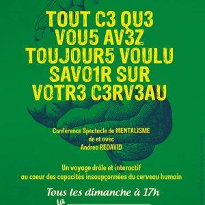 Tout ce que vous avez toujours voulu savoir sur votre cerveau de Andrea REDAVID @ La Nouvelle Seine | Avignon | Provence-Alpes-Côte d'Azur | France