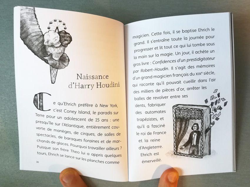 Harry Houdini, superhéros de la magie de Philippe BEAU et Axelle CORTY   dessins : Anastassia Elias