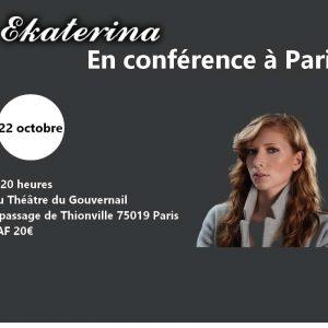 Conférence de Ekaterina (75) @ Théâtre du Gouvernail   Paris   Île-de-France   France