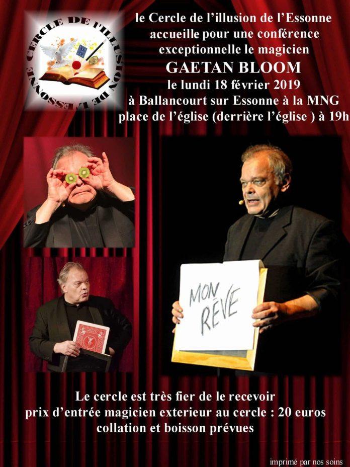 Conférence de Gaëtan BLOOM (91)