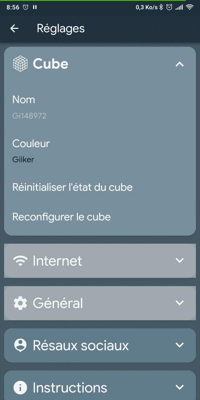 Captures d'écran sur Android de Rubiked de Vincent TARRIT