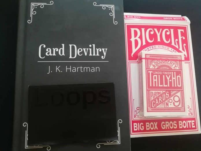 J. K. HARTMAN « Card Devilry », un jeu de cartes Tally-ho classique, un gros jeu de cartes pour la scène