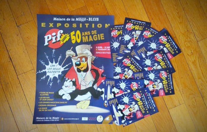 Affiche & Flyers - Exposition Pif Gadget