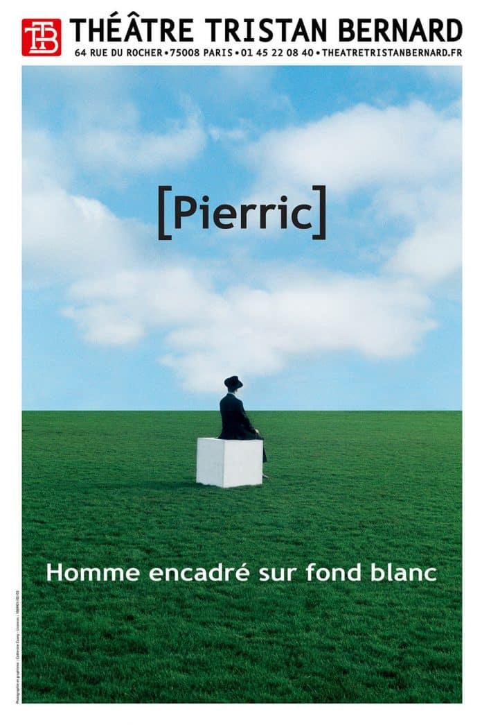 Homme Encadré sur Eond Blanc de Pierric
