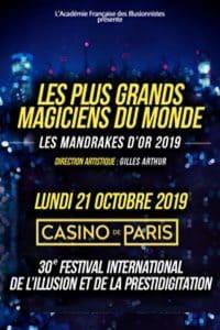 Les 30 Ans des Mandrakes d'Or (75) @ LE CASINO DE PARIS