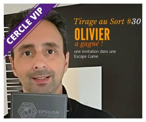 Olivier remporte le 30e tirage au sort réservé aux VIP