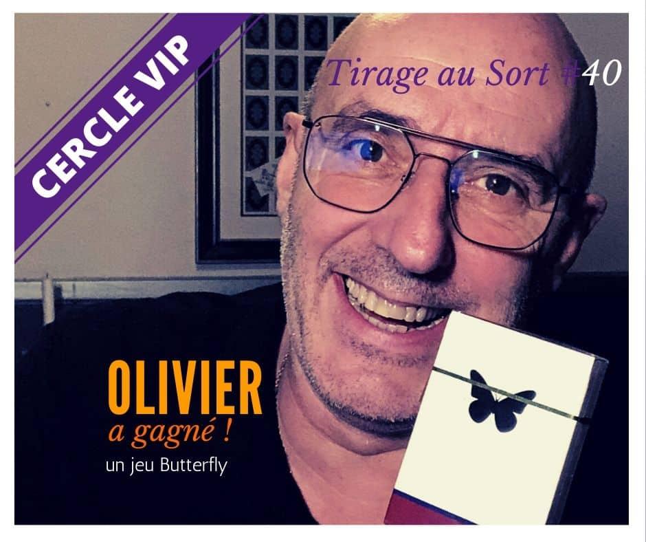 Olivier Gagne Jeu Butterfly Pour Le 40e Tirage Au Sort Des Vip
