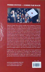 4e de couverture de Comme par Magie de Pierre Switon