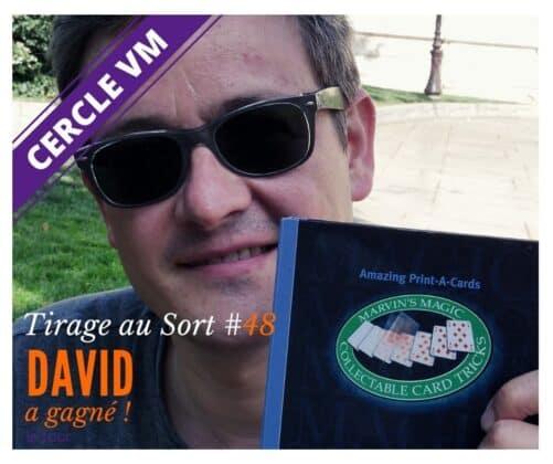 David remporte le 48e tirage au sort réservé aux membres du Cercle VM