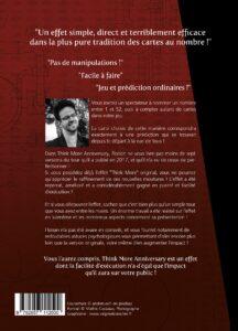 Think More Anniversary de Florian CHAPRON 4e de couverture